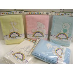 Elegant Kids 2000™ Applique Acrylic Blankets - (Assorted in 5 colors)