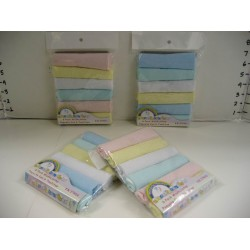 Elegant Kids 2000™ 6 Pack Washcloths (Solid Pastel)