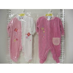 Elegant Kids 2000™ Velour Sleep N Play on Hanger, Pink