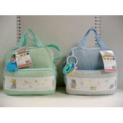 Elegant Kids 2000™ Medium Diaper Bag w/ Rattle (Fabric)