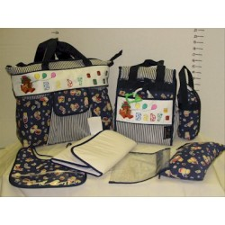 Elegant Kids 2000™ Fabric 7-In-1 Diaper Bag Set