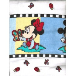 Disney Mickey, Minnie, Pluto 2-pc 100% Cotton Flannel Baby Receiving Blankets