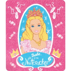 Barbie Nutcracker Royal Plush Raschel Blanket Throw