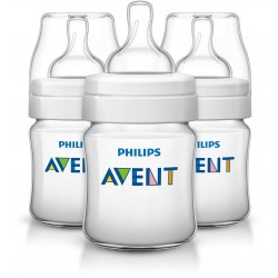 Philips AVENT Classic+ 4 Ounce Bottles, BPA-Free, 3-Pack