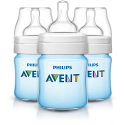 Philips AVENT Classic+ 4 Ounce Bottles, BPA-Free, Blue, 3-Pack