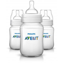 Philips AVENT Classic+ 9 Ounce Bottles, BPA-Free, 3-Pack