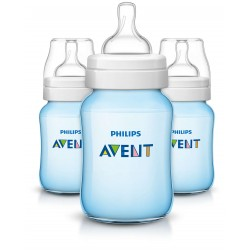 Philips AVENT Classic+ 9 Ounce Bottles, BPA-Free, Blue, 3-Pack