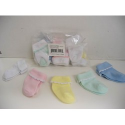 Elegant Kids 2000™ Newborn Baby Socks Dozen Pack (Assorted Colors)