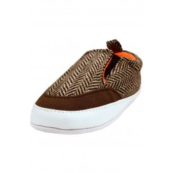 Baby Boy Slip-On Herringbone Sneakers by Goldbug