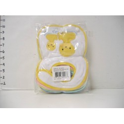 Elegant Kids 2000™ Small Embroidered Bib w/ Squeaker - Assorted Styles (Pack of 12) (EK-80096)