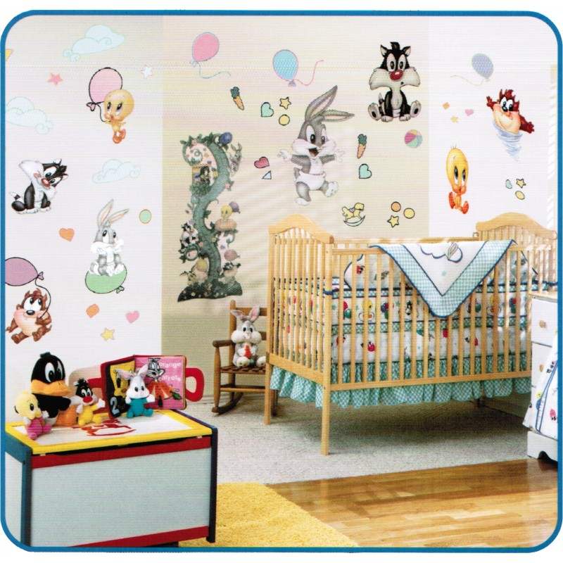 Looney tunes nursery thenurseries for Baby looney tune decoration