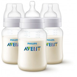 Philips AVENT Anti-Colic 9 Ounce Bottles, BPA-Free, Clear, 3-Pack (SCF403/37)