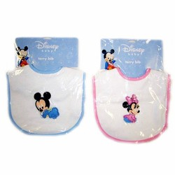 Disney Mickey and Minnie Embroidered Terry Bib (82834)