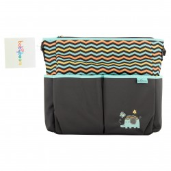 Elephant 8 Pockets Tote Diaper Bag (BB11980)