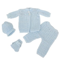 Baby's Four Piece Crochet Outfit Set (MX-52001)