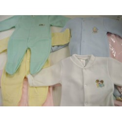 Elegant Kids 2000™ Baby Fleece Sleep N Play w/ Snaps (Dozen Pack) (EK-60172)