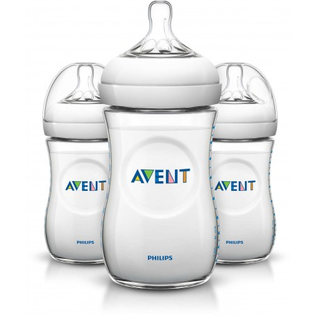 Philips AVENT Natural 9 Ounce Bottles, BPA-Free, 3-Pack