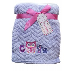 Ultra Soft Embossed Plush Baby Blanket (HTB142)