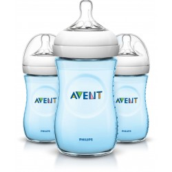 Philips AVENT Natural 9 Ounce Bottles, BPA-Free, Blue 3-Pack