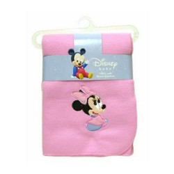 Disney Baby Mickey & Minnie Mouse Applique Soft Fleece Blanket