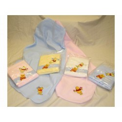 Disney Baby Winnie the Pooh Embroidered Soft Fleece Blanket
