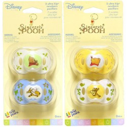 Disney Baby Sincerely Pooh Ultra Kip Infant Pacifiers (Y1233)