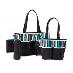 Baby Boom 5-Piece Striped Tote Diaper Bag Set (BB22676)