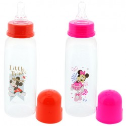 Disney Mickey/Minnie 9 Ounce Square Bottle, BPA-Free