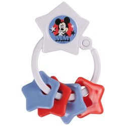 Disney Mickey Mouse Star Shape Keyring Teether (TY60078)