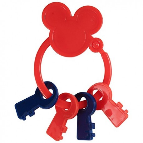 Disney Mickey Mouse Key Shape Keyring Teether (TY60080)