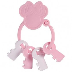 Disney Minnie Mouse Key Shape Keyring Teether (TY60081)