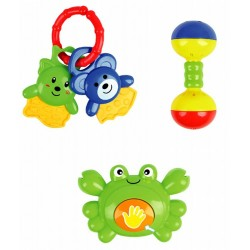 Elegant Kids 2000™ 5 Piece BPA-Free Baby Rattle in Box (EK-31001)