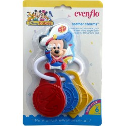 Evenflo Disney Babies Mickey & Minnie Mouse Teether Charms (62172)