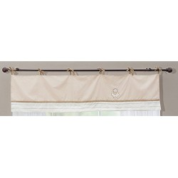 Little Lamb Window Valance, Brown (1749031K11)