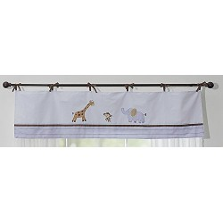 Little Lion Window Valance, Blue (1749035K11)