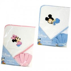 Disney Mickey & Minnie Hooded Towels w/ Washcloth (82832)