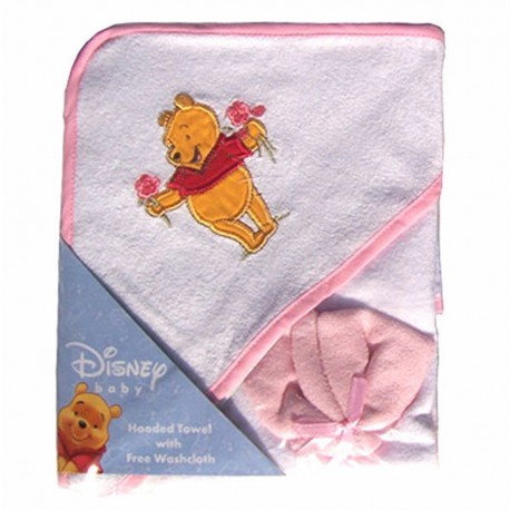 Disney Winnie the Pooh Hooded Towel w/ Washcloth (82692)