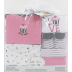 Elegant Kids 2000™ 5-Piece Layette Boxed Gift Set in Tulle Bag (EL-3024)