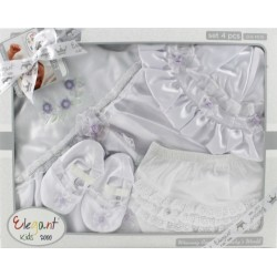 Elegant Kids 2000™ 4-Piece Satin Layette Christening Boxed Gift Set (EL-3028_